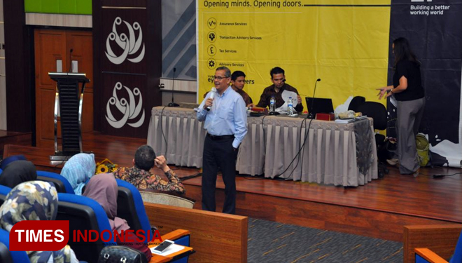 Acara Campus Journey dari Ernst & Young (EY) di FEB UB (FOTO: ajp.TIMES Indonesia)