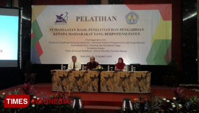 ITN Malang Hosted Research Training Potentially Patent