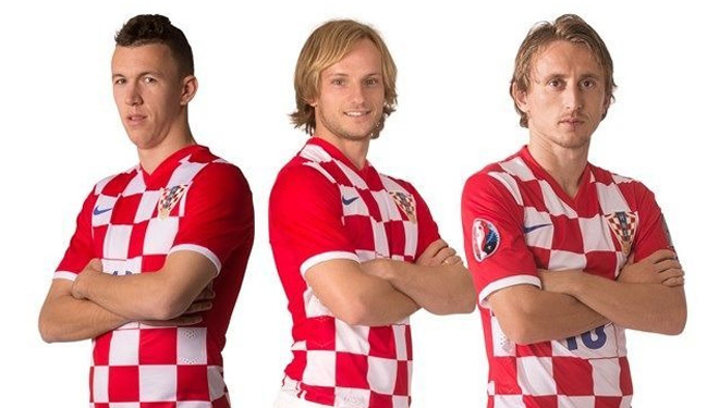 The best midfielder trio of Croatia: Ivan Perisic (Inter Milan), Ivan Rakitic (Barcelona) and Luka Modric (Real Madrid). Croatia also entered a dark horse. (PHOTO: Special)