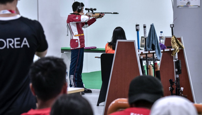 Tera Presents Silver Medal for Indonesia in Shooting Match