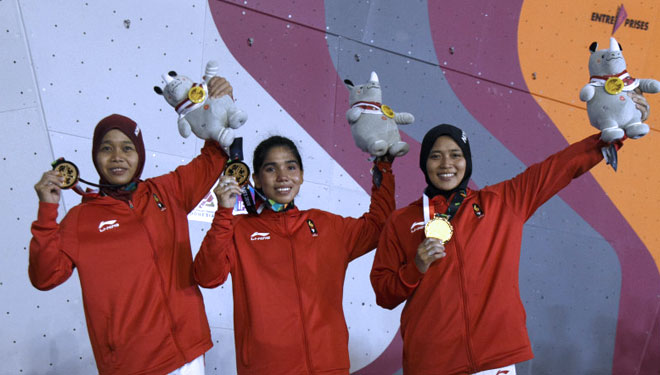 Indonesia's Rock Climbers Athletes Succesfully Got 2 Gold Medals