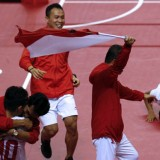 The 31st of Indonesia Gold Donated by Men's Team Takraw