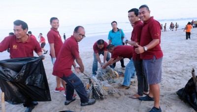 Jimbaran Bay Beach Resort & Spa Inisiasi World CleanUp Day 2018