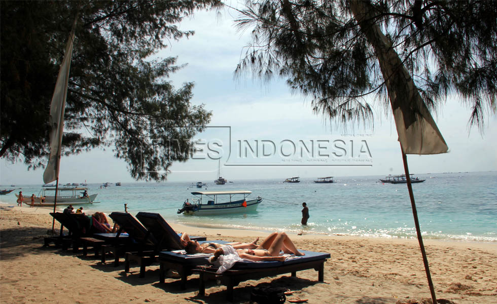 Tourism Area of Gili Trawangan is Getting Crowded with Tourists