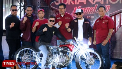 Full Chrome, Tosan Adji Jadi Iconic Bike Suryanation Motorland 2018