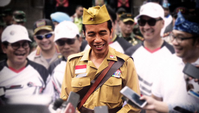Jokowi Explains about his Hero-Style Costume in National Heroes Day