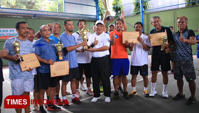 The Men Double Lamongan Team Won Korpri Cup Tennis Tournament 2018