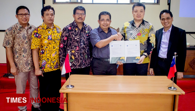 Menuju World Class University, Polije Teken MoU dengan Chienkuo Technology University