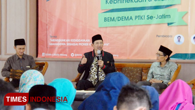 Gelar Wicara Kebhinekaan: DEMA UIN Malang Invited the Leader of PBNU