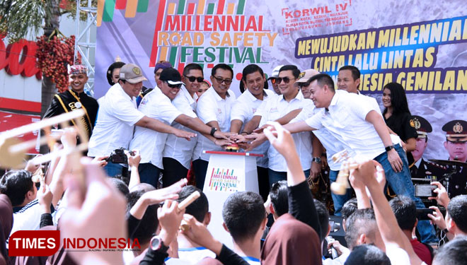 Wali Kota Kediri Apresiasi Program Millenial Road Safety Festival