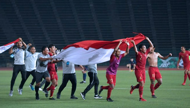 Indonesia National U-22 Team Got Praise From Jokowi for The Victory in AFF U-22 Championship 2019
