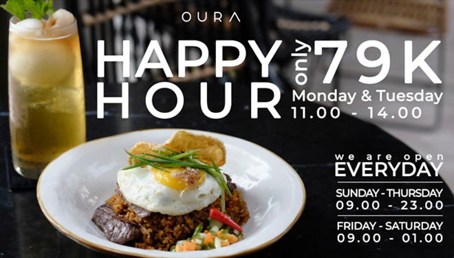 Enjoy Happy Hour Lunch Offers at Oura Malang