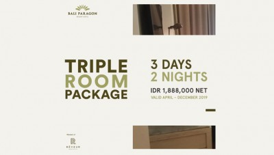 Bali Paragon Resort Hotel Jimbaran Offers You a Super Duper Cheap Triple Room Package
