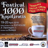 Free Coffee at Eathouse Gallery Budaya and Cafe