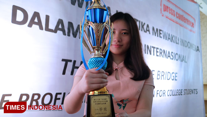 Jesslyn Calysta, will be an Indonesian Representative at The 18th Chinese Bridge Competition