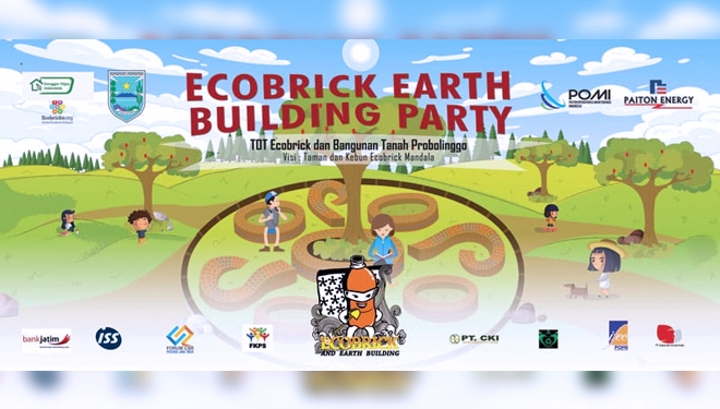 Internasional Ecobrick Experts Inspired by the Geometrical Design of Candi Jabung Probolinggo