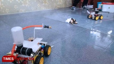 The New Innovation of Fire Fighting Robot by Students of Islamic Boarding School Banyuwangi