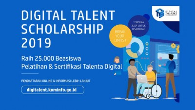 300 Seats of Digital Talent Scholarship 2019 Provided at Filkom Brawijaya University