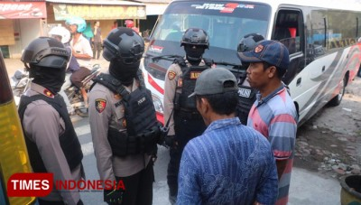 Antisipasi Gerakan People Power, Polres Gresik Gencar Razia