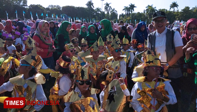 A Colossal Jaranan Dance to Celebrate Hari Anak Nasional 2019 in Ngawi