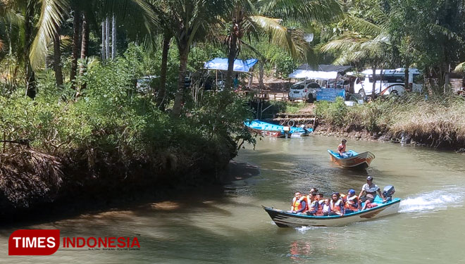 Kali Cokel or the Cokel river Pacitan. (Picture by: Evita Mukharomah/TIMES Indonesia)
