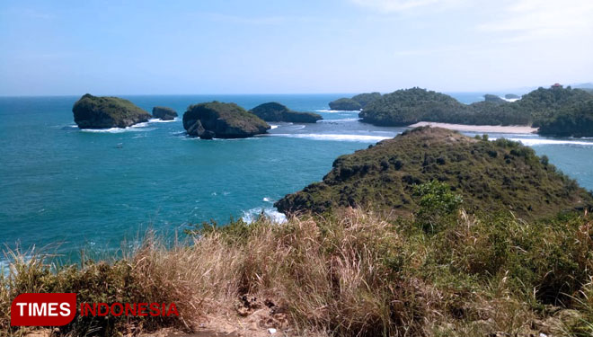 Kasap Beach Pacitan. (PHOTO: Evita Mukharomah/TIMES Indonesia)