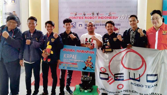Unesa Participated in Indonesian Robotic Competition 2019