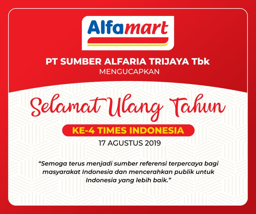 DISPLAY UCAPAN HUT KE 4 TIMES INDONESIA - ALFAMART