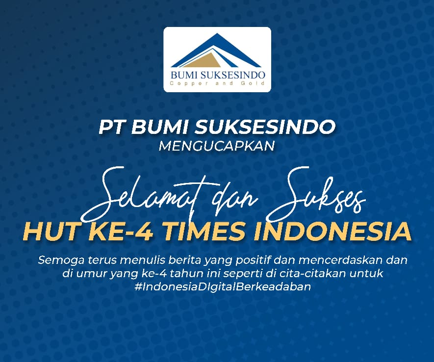 DISPLAY UCAPAN HUT KE 4 TIMES INDONESIA - PT BUMI SUKSESINDO