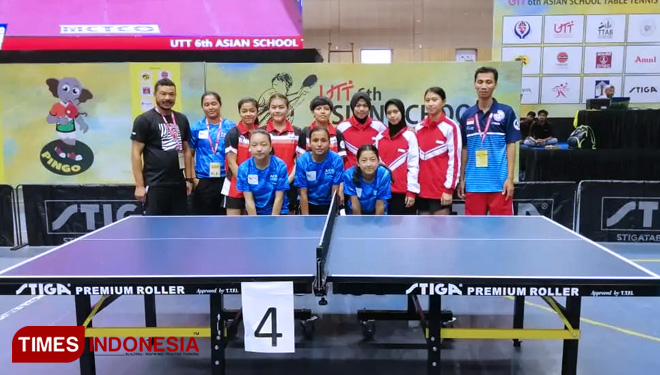 Tim Tenis Pelajar Indonesia di 6th Asian School Table Tennis Championships 2019