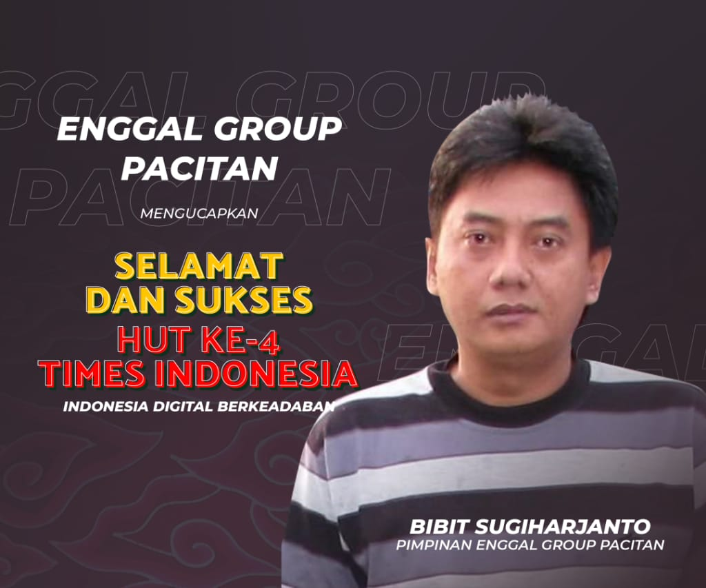 Display Ucapan HUT TIMES Indonesia - Enggal Group Pacitan