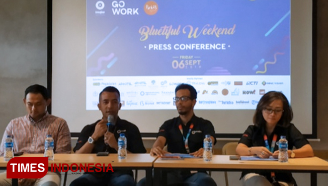 The Bluetiful Weekend press conference. (Picture by: Imadudin M/TIMES Indonesia)
