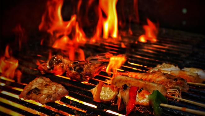 All-you-can-eat BBQ at HARRIS Sunset Road Bali