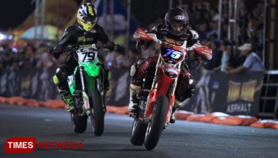Tommy Salim Curi Pole Potition di Kelas FFA Supermoto 76 Trial Game Asphalt 2019