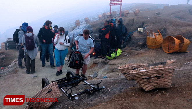 Ijen Crater. (Picture by: Agung Sedana/TIMES Indonesia)