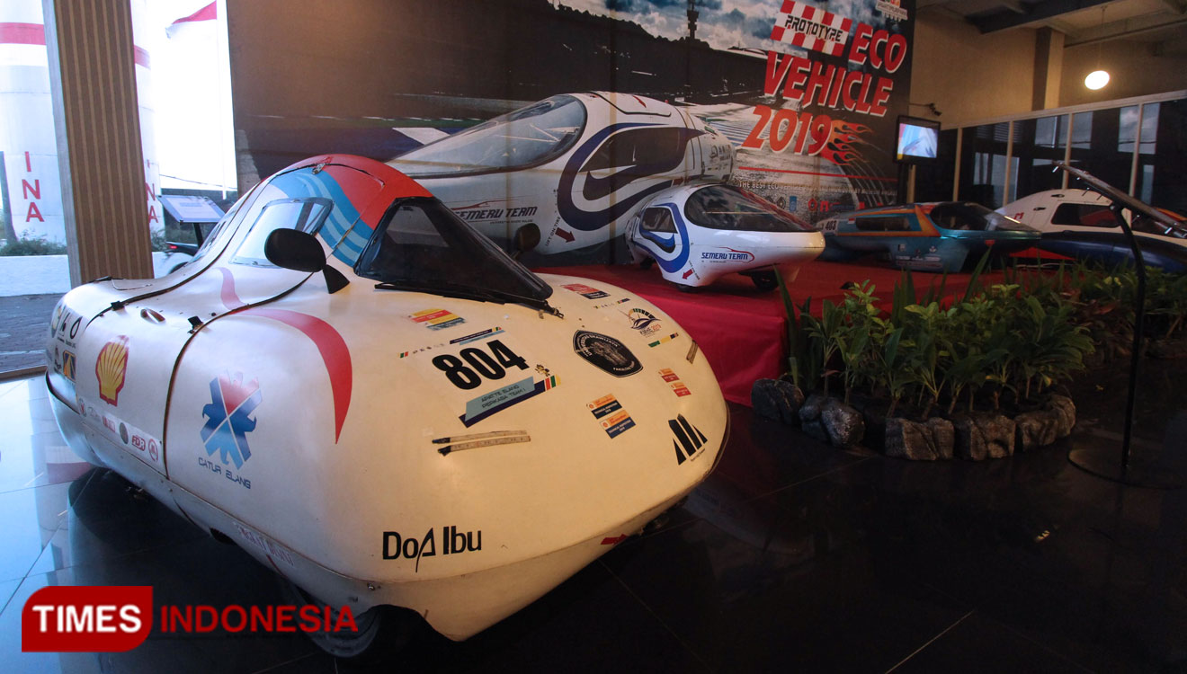 The Future Fuel-Efficient Car Displayed in Museum Angkut in Batu