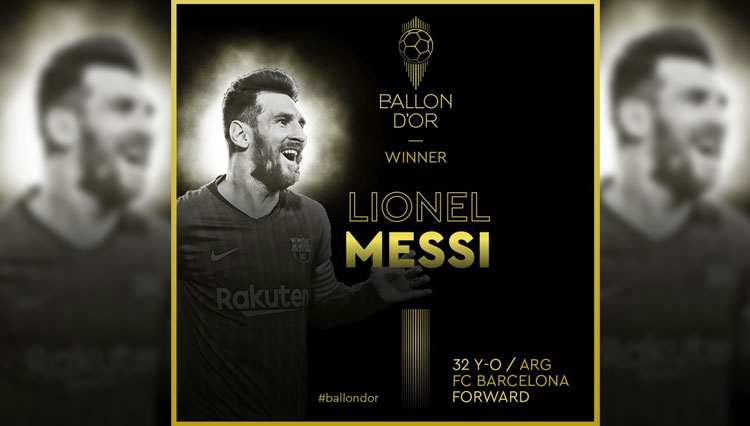 Menangi Ballon d'Or 2019, Lionel Messi Catat Rekor