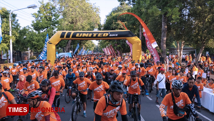 Fun bike with HARRIS Hotels GrupBali on HARRIS Day 2019. (Picture by: Imadudin M/TIMES Indonesia)