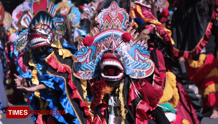 The Rampak Barong show at the Malang Ancen Mbois. (Picture by: Tria Adha/TIMES Indonesia)