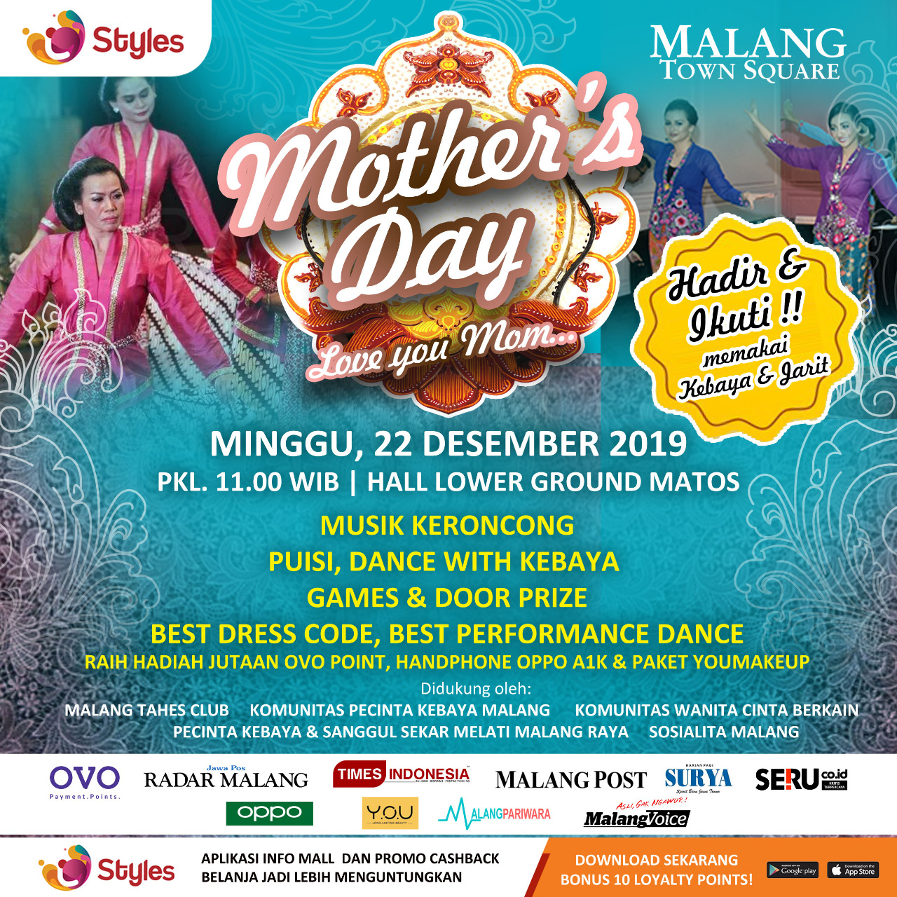 Dance With Kebaya In Malang Town Square To Celebrate The Upcoming Mother S Day Times Malaysia