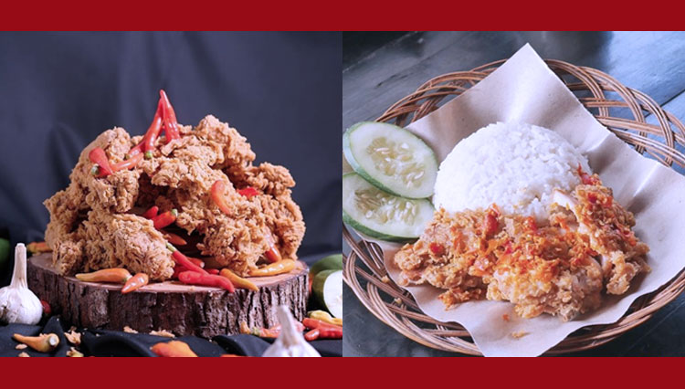 Enjoy the Exquisite Spicy Taste of Fried Chicken Accompanied with a Glass of Milk at Preksu Malang