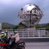 Admiring the Gigantic Globe of Majalengka