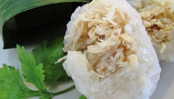 Lemper, an Indonesian Sticky Rice Cake and Its Recipe