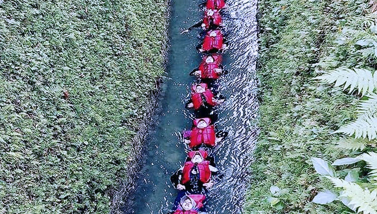 Have a Wonderful Experience of Body Rafting at Wisata Citumang Pangandaran