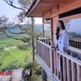 Ciboer Pass Offers Serenity with Lush Green Rice Field as the Main View