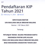 UIN Malang Helps Their Students' Financial Problem with KIP