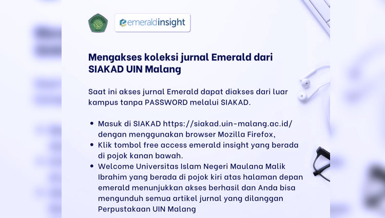 UIN Malang Opens the Database Journal Access for All Their Students