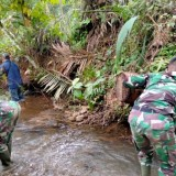 TMMD South Tapanuli Clean The River, Health Protocol Always Applied